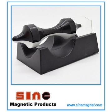 Criativo Preto-Branco Magnético Suspensão Flying Saucer Educação Brinquedos