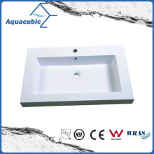Good Quality Rectangular Artificial  Marble  Sink Tops Acb8147