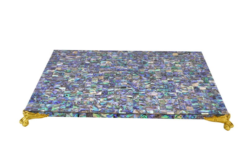 paua shell table mat