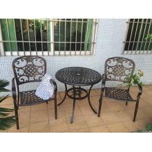 Conjuntos de mobiliário de jardim em alumínio fundido