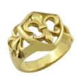 China Factory 18k Solid Gold Ringe