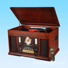 Turntable Player with Built-in Adapter for 45rpm Records and Rotary Digital Volume Control