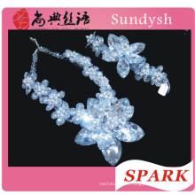 Cristal de mode en gros perlé chunky déclaration collier en Chine