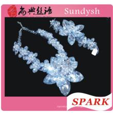 fashion crystal wholesale beaded chunky statement necklace in china