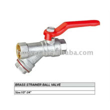 brass body Y strainer ball valve