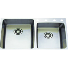 Нержавеющая сталь двойной Bowl мойка для кухни (KTD3322D)
