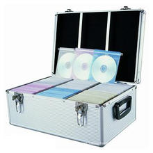 Factory Offer Aluminum CD Case Can Hold 600 PCS CD