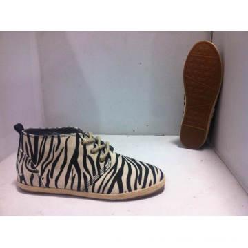 Women′s Vulcanized Rubber Outsole Canvas Shoes