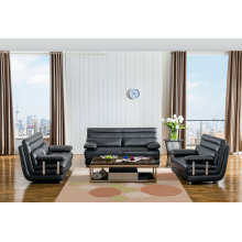 High Quality 1+2+3 Europea Type Genuine Leather Sofa (M0415)