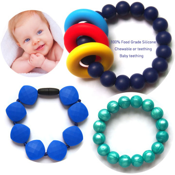 Silicone+Baby+Chewing+Teething+Bracelet