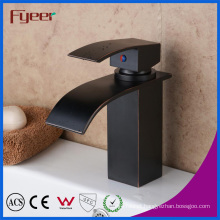 Fyeer Ceramic Core Valve Blackened Waterfall Basin Faucet (QH0517R)