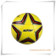 Metallischer lederner PU-Fußball für Förderung