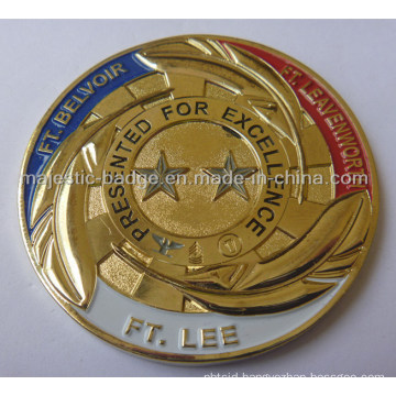 Gold Plated Soft Enamel Star Coin