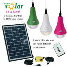 Hot selling solar panels for homes with 3 LED bulbs