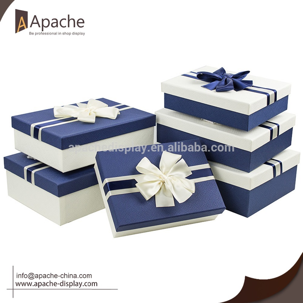 Special texture packing box with Bow Ribbon