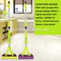 PVA Sponge twist cleaning Mop with Super Absorbent Sponge Head stick