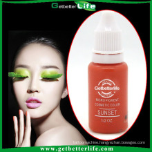 2015 Micro permanent makeup ink & High quality 23-color tattoo Pigment/eyebrow pigments for permanent beauty