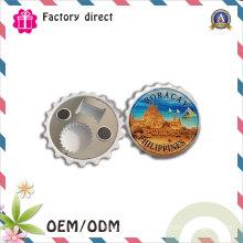 Foshan Factory Custom Plastic Water Fridge Magnet Bottle Opener