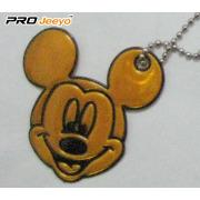 Hi-Vis PVC Sheet Khaki Mickey Pendant For Young