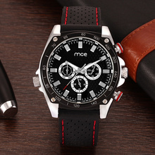 Men's waterproof sports watches with silicone strap