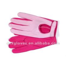 Mädchen-Art und Weisekleid-Lederhandschuhe