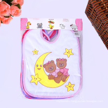 soft embroidered cotton wholesale baby drool bibs