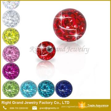 Las piezas de la joyería del cuerpo venden al por mayor el reemplazo de perforación de la bola del ferido del tornillo