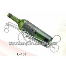Porcelana y botella de vino de moda sostenedor, estante del vino del metal