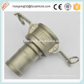 Camlock type C with collar stainless steel 316 quick coupling