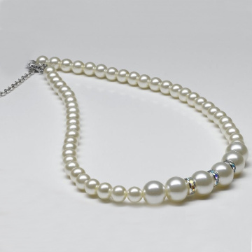 Bulk White Simulated Pearl Necklace