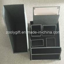Accessoires de bureau en papier texturé Organiseur de bureau avec bac
