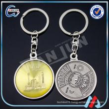 metal plated nickel perpetual calendar keychain