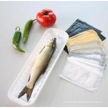 Fleisch-Fisch-Geflügel, das Wegwerfplastiklebensmittel-Tabletts verpackt
