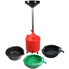 PE Plastic Oil Fluid Drain Pan Portable Drip Tray Telescoping Oil Liquid Drainer