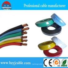 Cable de un solo hilo de múltiples hilos con aislamiento de PVC AWG 14 Thhn Cable de hilo, AWG 12 Cable de THW, puerto de Ningbo Shanghai