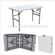ЭКО-дружественных ПЭ и стальная трубчатая рама материал, и да, в сложенном виде складной стол/складной кемпинг стол