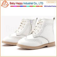 Детская кожаная школа горячего стиля новейшие симпатичные детские туфли