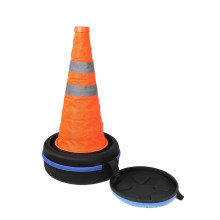 Easily Storage Carry Safety Road Parking case Cone with Reflective Silver Collar, car traffic Cones storage case