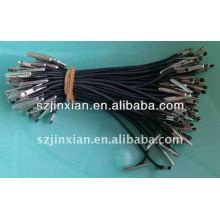 Cordón elástico negro con púas