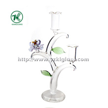 Glass Candle Holders for Wedding Decoration (9*18*31)