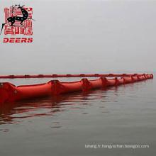 Clôture flottante de type PVC pour les déversements d'huile et autres confinements flottants
