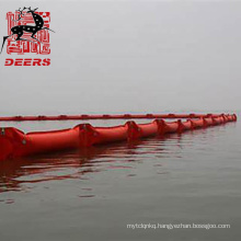 PVC float type seaweed barrier oil spill containment boom for marine affair