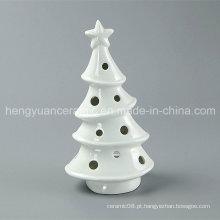 Mercadorias Spot! White Porcelana árvore em forma de castiçais de Natal de cerâmica