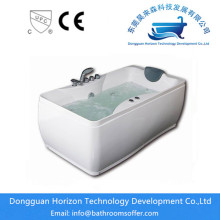 Europe style for Square Acrylic Bathtub Two Apron Hydro jacuzzi for bathroom export to Poland Manufacturer