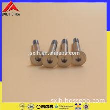 M6 x 1 thread x 20 mm long titanium flat head allen socket screw