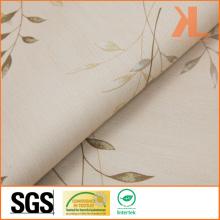 Polyester Leaf Design Print Twilled Inherently Flame Retardant Fireproof Blackout Fabric