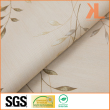 Polyester Leaf Design Print Twilled Inherently Flame Retardant Fireproof Blackout Fabric