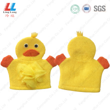 Duck yellow animal bath gloves sponge