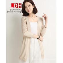 Summer wear 16gg knitte Sweater Fashion Medium Long Cashmere Cardiga