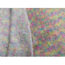 100% Polyester Malange Sherpa Fleece Knitting Fabric